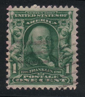us postage stamp - Benjamin Franklin